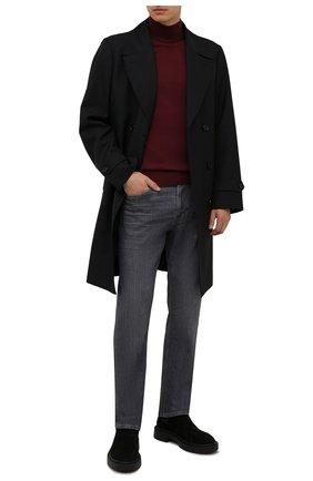 Мужские джинсы BOSS серого цвета, арт. 50458129 | Фото 2 (Материал внешний: Хлопок; Кросс-КТ: Деним; Силуэт М (брюки): Прямые; Стили: Кэжуэл; Длина (брюки, джинсы): Стандартные)