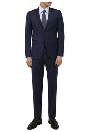 Мужские кожаные дерби BRIONI коричневого цвета, арт. QE2A0L/P7731 | Фото 2 (Материал внутренний: Натуральная кожа; Стили: Классический)