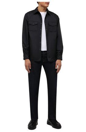 Мужские кожаные кеды BARRETT черного цвета, арт. CAR-10538.29/C0RAL | Фото 2 (Материал утеплителя: Натуральный мех; Подошва: Массивная)