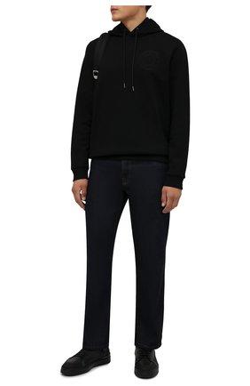 Мужские комбинированные кеды BARRETT черного цвета, арт. CAR-10978.7/GUMMY | Фото 2 (Подошва: Массивная; Материал утеплителя: Натуральный мех)