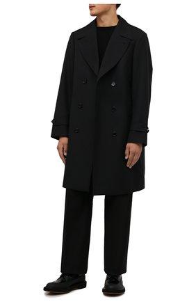 Мужские кожаные дерби BARRETT черного цвета, арт. S0H0-008.1/GUM | Фото 2 (Материал внутренний: Натуральная кожа; Стили: Классический)