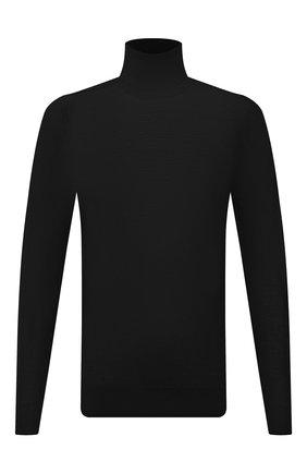 Мужской шерстяная водолазка TRANSIT черного цвета, арт. CFUTRP11462 | Фото 1 (Материал внешний: Шерсть; Рукава: Длинные; Длина (для топов): Стандартные; Мужское Кросс-КТ: Водолазка-одежда; Принт: Без принта; Стили: Кэжуэл)