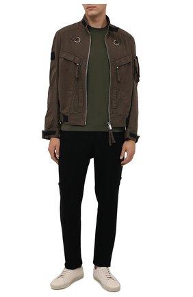 Мужские шерстяные брюки TRANSIT черного цвета, арт. CFUTRPK200   Фото 2 (Материал внешний: Шерсть; Длина (брюки, джинсы): Стандартные; Случай: Повседневный; Стили: Минимализм)
