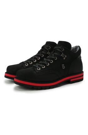 Мужские замшевые ботинки BOGNER черного цвета, арт. 12141852/C0URCHEVEL M 8 D | Фото 1 (Подошва: Плоская; Материал внутренний: Текстиль; Мужское Кросс-КТ: Ботинки-обувь; Материал внешний: Замша)