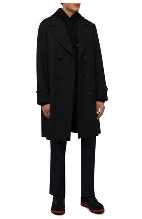 Мужские замшевые ботинки BOGNER черного цвета, арт. 12141852/C0URCHEVEL M 8 D | Фото 2 (Подошва: Плоская; Материал внутренний: Текстиль; Мужское Кросс-КТ: Ботинки-обувь; Материал внешний: Замша)