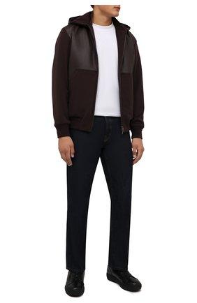 Мужские кожаные кеды BOGNER черного цвета, арт. 12142243/ANCH0RAGE M 4 C | Фото 2 (Материал утеплителя: Натуральный мех; Подошва: Массивная)