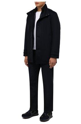 Мужские комбинированные кроссовки BOGNER темно-синего цвета, арт. 12149381/SEATTLE M 11 | Фото 2 (Материал внутренний: Натуральная кожа; Подошва: Плоская; Стили: Классический)