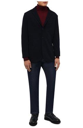 Мужские комбинированные ботинки W.GIBBS темно-синего цвета, арт. 0929070/1426 | Фото 2 (Материал утеплителя: Натуральный мех; Материал внешний: Текстиль; Мужское Кросс-КТ: Ботинки-обувь, зимние ботинки; Подошва: Плоская)