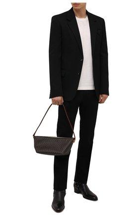 Мужская сумка le monogramme SAINT LAURENT коричневого цвета, арт. 667490/2UY2W   Фото 2 (Материал: Экокожа)