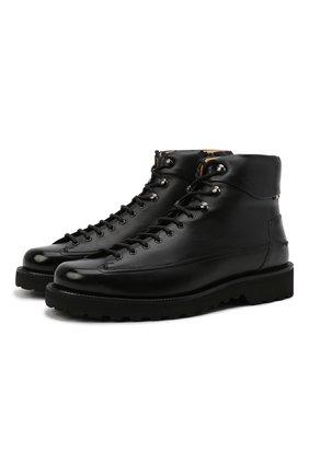 Мужские кожаные ботинки norkwel BALLY черного цвета, арт. N0RKWEL/40 | Фото 1 (Подошва: Плоская; Материал внутренний: Натуральная кожа; Мужское Кросс-КТ: Ботинки-обувь)