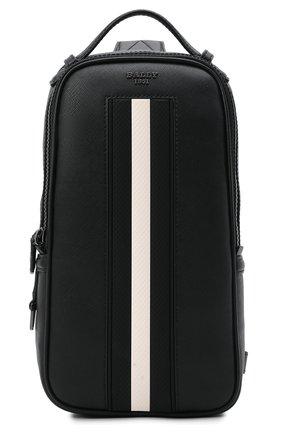 Мужской кожаный рюкзак malikho BALLY черного цвета, арт. MALIKH0/00 | Фото 1 (Ремень/цепочка: На ремешке; Материал: Натуральная кожа)