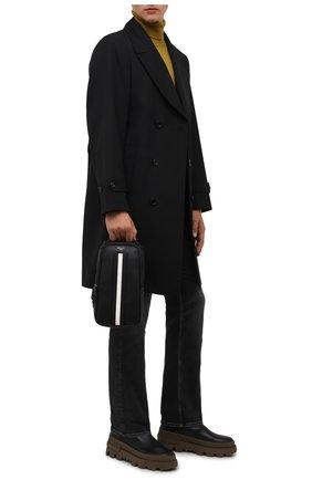 Мужской кожаный рюкзак malikho BALLY черного цвета, арт. MALIKH0/00 | Фото 2 (Ремень/цепочка: На ремешке; Материал: Натуральная кожа)