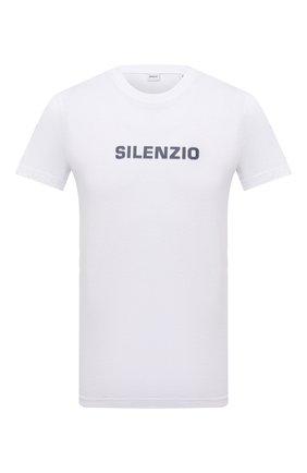Мужская хлопковая футболка ASPESI белого цвета, арт. W1 A AY27 A335 | Фото 1 (Рукава: Короткие; Длина (для топов): Стандартные; Материал внешний: Хлопок; Принт: С принтом; Стили: Кэжуэл)