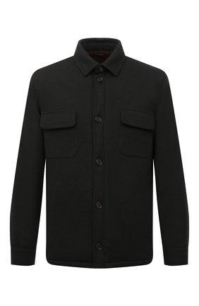 Кашемировая куртка с меховой подкладкой   Фото №1