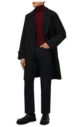 Мужской шерстяная водолазка DOLCE & GABBANA бордового цвета, арт. GXB00T/JAVWY | Фото 2 (Материал внешний: Шерсть; Рукава: Длинные; Длина (для топов): Стандартные; Мужское Кросс-КТ: Водолазка-одежда; Принт: Без принта; Стили: Кэжуэл)