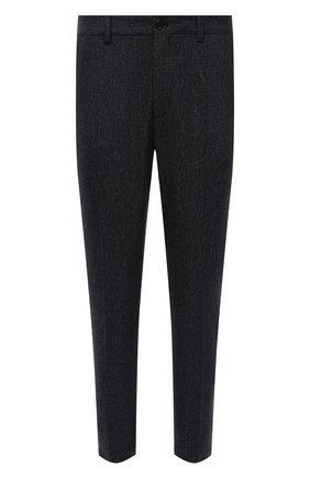 Мужские брюки из хлопка и шерсти DOLCE & GABBANA темно-серого цвета, арт. GW13ET/FBMDB   Фото 1 (Материал внешний: Шерсть, Хлопок; Случай: Повседневный; Стили: Кэжуэл; Длина (брюки, джинсы): Стандартные)