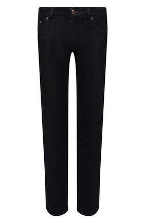 Мужские джинсы MOORER темно-синего цвета, арт. PAVEL-DC111/M0UDE100008-TEPA375 | Фото 1 (Материал внешний: Хлопок; Длина (брюки, джинсы): Стандартные; Кросс-КТ: Деним; Силуэт М (брюки): Прямые; Стили: Классический)