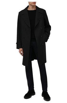 Мужские джинсы MOORER темно-синего цвета, арт. PAVEL-DC111/M0UDE100008-TEPA375 | Фото 2 (Материал внешний: Хлопок; Длина (брюки, джинсы): Стандартные; Кросс-КТ: Деним; Силуэт М (брюки): Прямые; Стили: Классический)