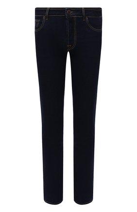 Мужские джинсы MOORER темно-синего цвета, арт. PAVEL-DC107/M0UDE100008-TEPA360 | Фото 1 (Материал внешний: Хлопок; Длина (брюки, джинсы): Стандартные; Кросс-КТ: Деним; Силуэт М (брюки): Прямые; Стили: Классический)