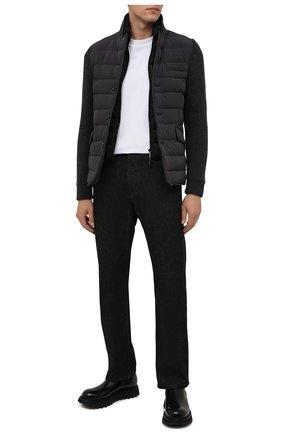 Мужская комбинированная куртка rogers-knm MOORER серого цвета, арт. R0GERS-KNM/M0UGI100318-TEPA237 | Фото 2 (Материал внешний: Синтетический материал; Длина (верхняя одежда): Короткие; Материал утеплителя: Пух и перо; Рукава: Длинные; Кросс-КТ: Куртка; Мужское Кросс-КТ: пуховик-короткий; Стили: Кэжуэл)