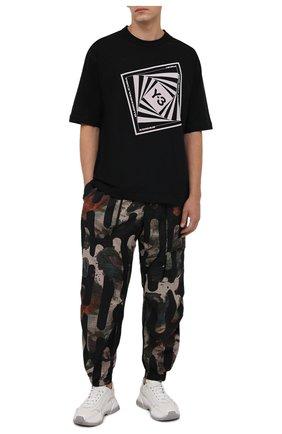 Мужские джоггеры Y-3 разноцветного цвета, арт. HB3326/M | Фото 2 (Материал внешний: Синтетический материал; Силуэт М (брюки): Джоггеры; Стили: Спорт-шик; Длина (брюки, джинсы): Стандартные)