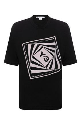 Мужская хлопковая футболка Y-3 черного цвета, арт. HB3330/M | Фото 1 (Материал внешний: Хлопок; Длина (для топов): Стандартные; Принт: С принтом; Рукава: Короткие; Стили: Спорт-шик)