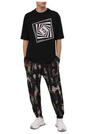 Мужская хлопковая футболка Y-3 черного цвета, арт. HB3330/M | Фото 2 (Материал внешний: Хлопок; Длина (для топов): Стандартные; Принт: С принтом; Рукава: Короткие; Стили: Спорт-шик)