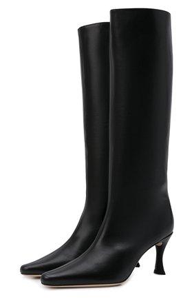 Женские кожаные сапоги stevie 42 BY FAR черного цвета, арт. 21PFSVIDBLSMC | Фото 1 (Материал внутренний: Натуральная кожа; Подошва: Плоская; Каблук высота: Высокий; Высота голенища: Средние; Каблук тип: Шпилька)