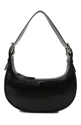 Женская сумка soho BY FAR черного цвета, арт. 21PFS0HSBLCREMED | Фото 1 (Материал: Натуральная кожа; Размер: medium; Сумки-технические: Сумки top-handle)
