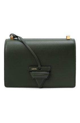 Женская сумка barcelona LOEWE зеленого цвета, арт. A532M15X02   Фото 1 (Материал: Натуральная кожа; Размер: medium, small; Ремень/цепочка: На ремешке)