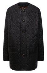 Женская кожаная куртка DOLCE & GABBANA черного цвета, арт. F0AQ9L/HULH9 | Фото 1 (Материал подклада: Синтетический материал; Рукава: Длинные; Длина (верхняя одежда): До середины бедра; Стили: Гламурный; Кросс-КТ: Куртка; Женское Кросс-КТ: Замша и кожа)