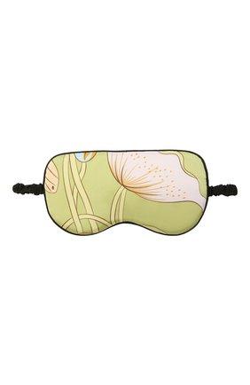 Женские шелковая маска для сна OLIVIA VON HALLE светло-зеленого цвета, арт. AW2156 | Фото 1 (Материал внешний: Шелк)