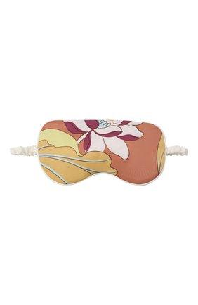Женские шелковая маска для сна OLIVIA VON HALLE разноцветного цвета, арт. AW2155 | Фото 1 (Материал внешний: Шелк)