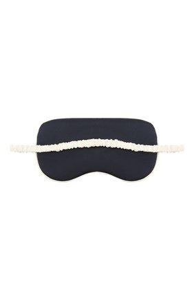 Женские шелковая маска для сна OLIVIA VON HALLE темно-синего цвета, арт. AW2154 | Фото 2 (Материал внешний: Шелк)