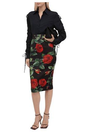 Женская юбка DOLCE & GABBANA разноцветного цвета, арт. F4B6VT/FSSF2 | Фото 2 (Материал внешний: Синтетический материал; Стили: Гламурный; Женское Кросс-КТ: Юбка-одежда, Юбка-карандаш; Длина Ж (юбки, платья, шорты): До колена)