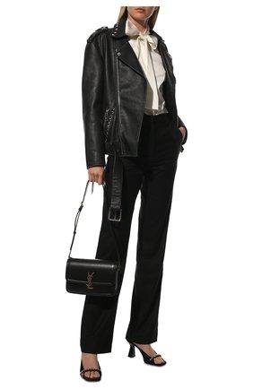 Женская шелковая блузка DOLCE & GABBANA кремвого цвета, арт. F5P09T/FURAG | Фото 2 (Материал внешний: Шелк; Рукава: Длинные; Длина (для топов): Стандартные; Стили: Романтичный; Принт: Без принта; Женское Кросс-КТ: Блуза-одежда)