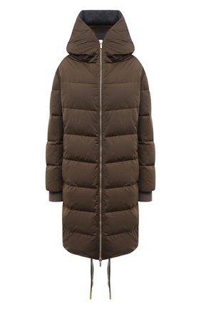 Женская утепленная куртка LORENA ANTONIAZZI хаки цвета, арт. I2113PI26A/3348 | Фото 1 (Длина (верхняя одежда): До середины бедра; Материал внешний: Синтетический материал; Материал подклада: Синтетический материал; Рукава: Длинные; Стили: Спорт-шик; Кросс-КТ: Куртка; Женское Кросс-КТ: Пуховик-куртка)