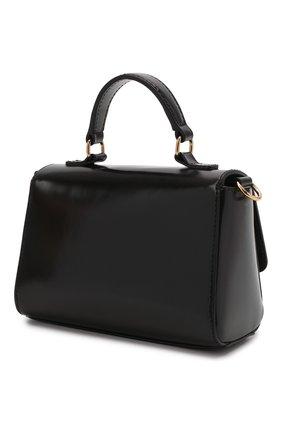 Детская кожаная сумка VERSACE черного цвета, арт. 1001622/1A01269   Фото 2 (Материал: Натуральная кожа)