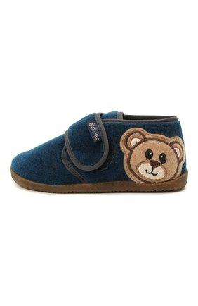 Детского домашние ботинки NATURINO синего цвета, арт. 0014000674/01/20-23 | Фото 2 (Материал внешний: Текстиль; Материал внутренний: Натуральная кожа, Текстиль; Кросс-КТ: велькро)