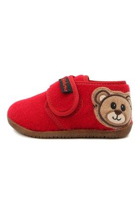 Детского домашние ботинки NATURINO красного цвета, арт. 0014000674/01/20-23 | Фото 2 (Материал внутренний: Текстиль, Натуральная кожа; Материал внешний: Текстиль; Кросс-КТ: велькро)