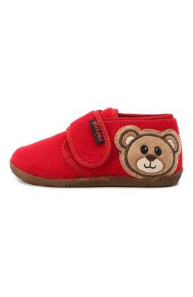 Детского домашние ботинки NATURINO красного цвета, арт. 0014000674/01/24-26 | Фото 2 (Материал внутренний: Натуральная кожа, Текстиль; Материал внешний: Текстиль; Кросс-КТ: велькро)