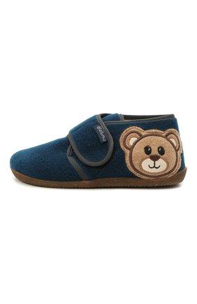 Детского домашние ботинки NATURINO синего цвета, арт. 0014000674/01/27-29 | Фото 2 (Материал внешний: Текстиль; Материал внутренний: Натуральная кожа, Текстиль; Кросс-КТ: велькро)