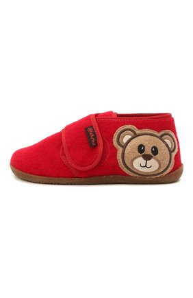 Детского домашние ботинки NATURINO красного цвета, арт. 0014000674/01/27-29 | Фото 2 (Материал внутренний: Текстиль, Натуральная кожа; Материал внешний: Текстиль; Кросс-КТ: велькро)