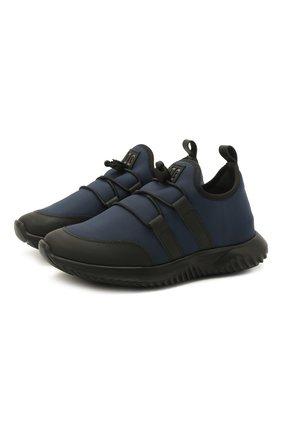 Детские кроссовки IL GUFO синего цвета, арт. G872/CARLIT0/27-30   Фото 1 (Материал внутренний: Натуральная кожа; Материал внешний: Текстиль; Стили: Спорт)