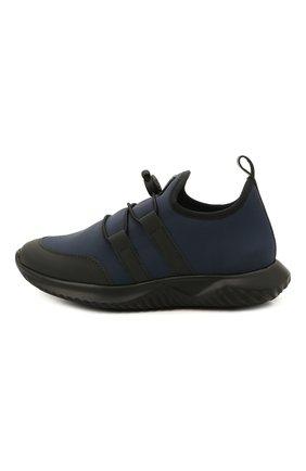 Детские кроссовки IL GUFO синего цвета, арт. G872/CARLIT0/27-30   Фото 2 (Материал внутренний: Натуральная кожа; Материал внешний: Текстиль; Стили: Спорт)