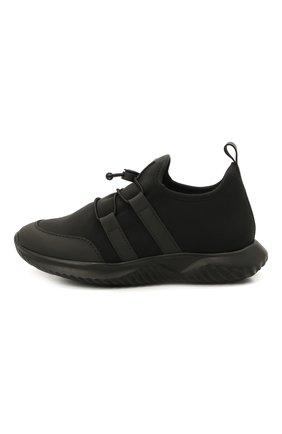 Детские кроссовки IL GUFO черного цвета, арт. G872/CARLIT0/27-30   Фото 2 (Материал внешний: Текстиль; Материал внутренний: Натуральная кожа; Стили: Спорт)