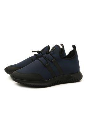 Детские кроссовки IL GUFO синего цвета, арт. G872/CARLIT0/35-42   Фото 1 (Материал внутренний: Натуральная кожа; Материал внешний: Текстиль; Стили: Спорт)