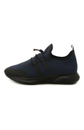 Детские кроссовки IL GUFO синего цвета, арт. G872/CARLIT0/35-42   Фото 2 (Материал внутренний: Натуральная кожа; Материал внешний: Текстиль; Стили: Спорт)