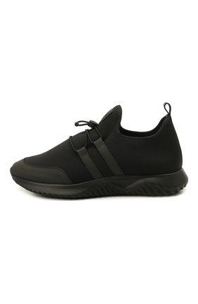 Детские кроссовки IL GUFO черного цвета, арт. G872/CARLIT0/35-42   Фото 2 (Материал внутренний: Натуральная кожа; Материал внешний: Текстиль; Стили: Спорт)