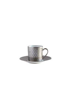 Кофейная чашка с блюдцем divine BERNARDAUD серебряного цвета, арт. 1388/79 | Фото 1